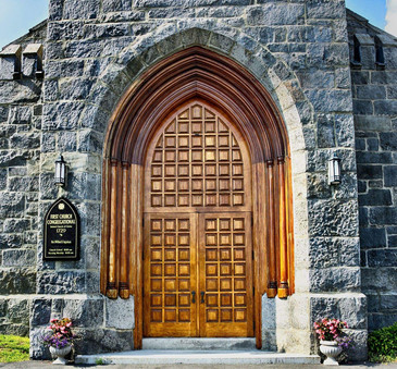 First Church front door