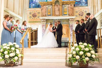 Alter view of wedding ceremony