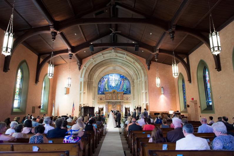 bride and groom - morning wedding