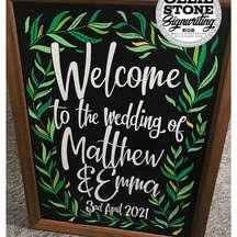 Wedding signage, East Grinstead