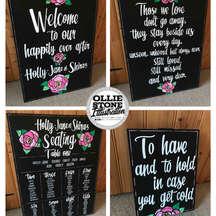 Wedding signage, Crawley