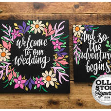 Wedding signage, Eastbourne