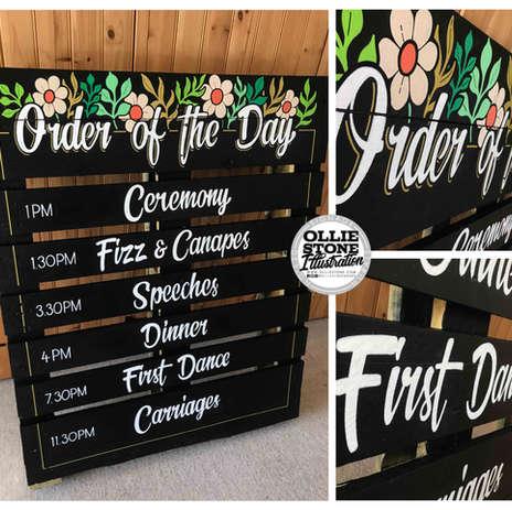 Wedding signage, Hove