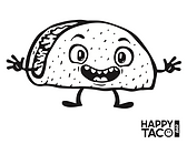 Happy Taco Kids Coloring Menu | Garland, North Dallas, Texas