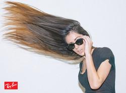 ray ban hair ad