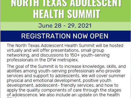 The North Texas Adolescent Health Summit And Why You Should Register.