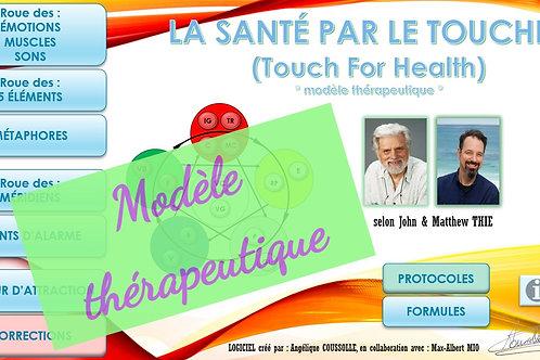 """LOGICIEL """"Santé par le Toucher"""" (modèle thérapeutique)"""