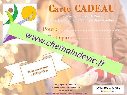 """Carte CADEAU """"enfant 0-18 ans"""""""