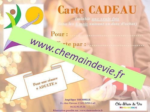 """Carte CADEAU """"Adulte"""""""