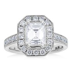 Emerald Cut Diamond Halo