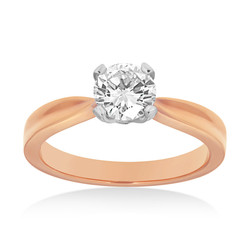Rose Gold 4 Claw Solitaire