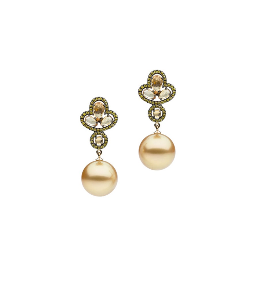 Autore Gold Pearl Earrings