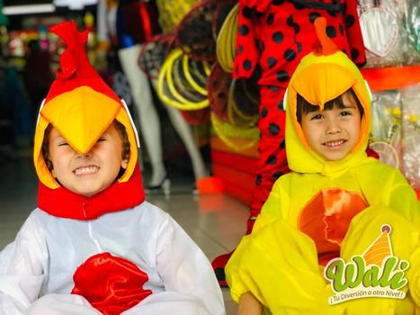 Gallo y pollito