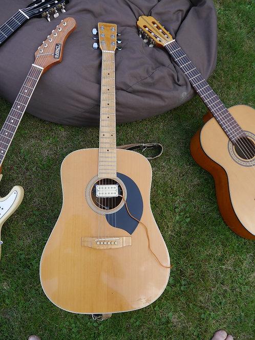 Rarität: Yamaki AY361 Made in Japan Westerngitarre mit Tonabnehmer -rar-