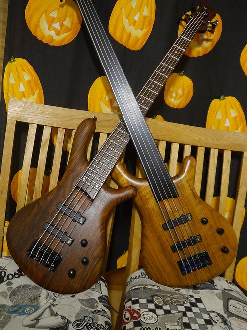 Fame Baphomet 5 & Fame Baphomet V Fretless Bass