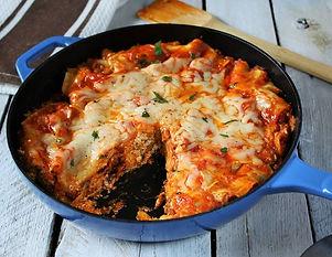 Skillet sausage and mushroom lasagna, te