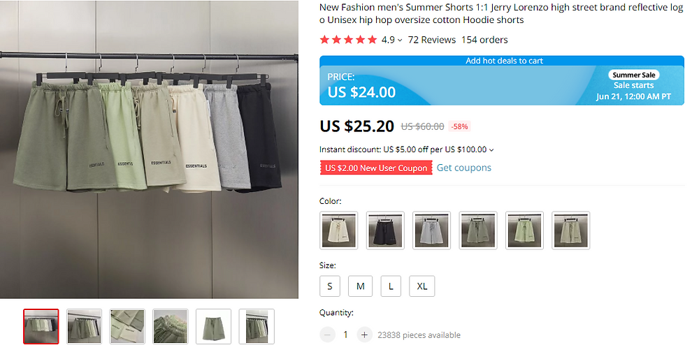 Prices difference on DSers with Wix DSers - product price page - Wix DSers