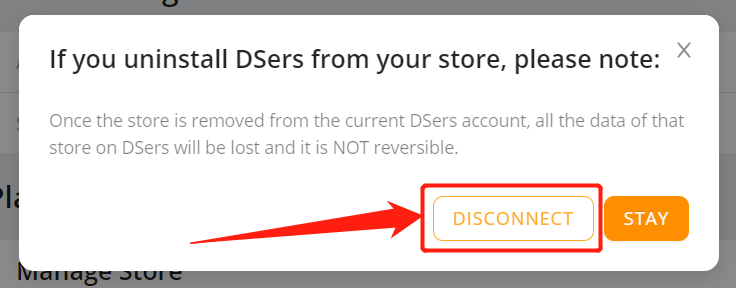 Remove a Wix store - disconnect - Wix DSers