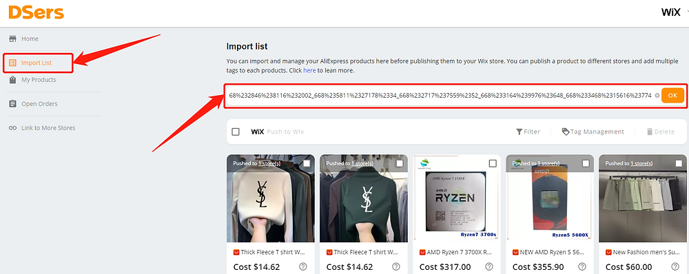 Re-order an order with deleted product with Wix DSers - reimport product - Wix DSers