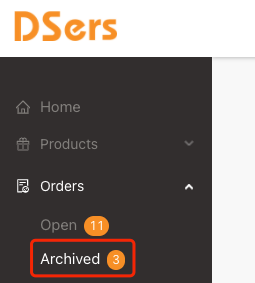 Archive order menu introduction with Woo DSers - Archived menu - Woo DSers