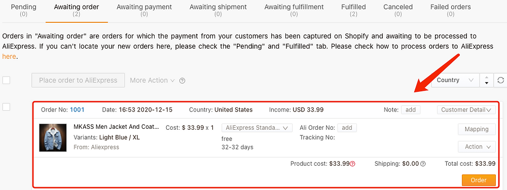 Why I should not request fulfillment on Shopify - Order - DSers