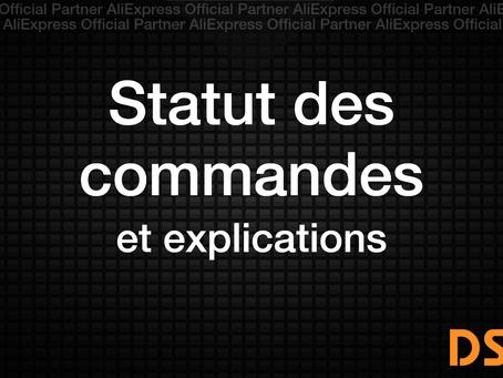 Statut des commandes et explications