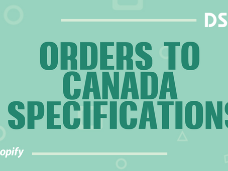 Orders to Canada specifications