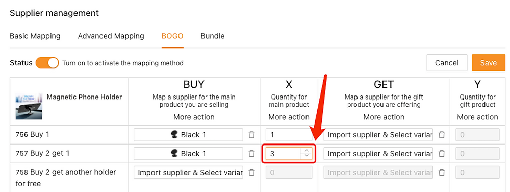 Create Buy One Get One offers with Woo DSers - Change quantity of Buy 2 Get 1 - Woo DSers