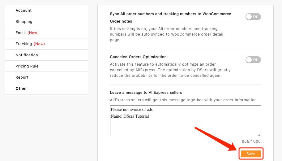 Message aux fournisseurs par défaut avec Woo DSers - 4 - Woo DSers