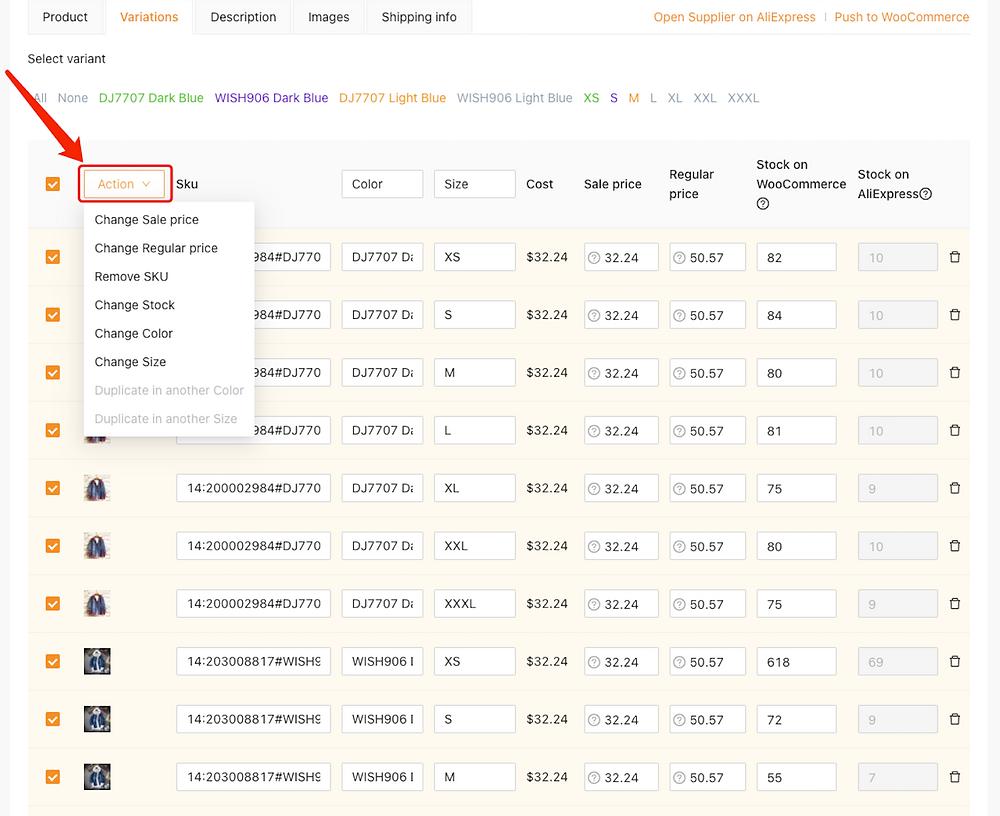 Editar um produto no DSers com Woo DSers - 13 - Woo DSers
