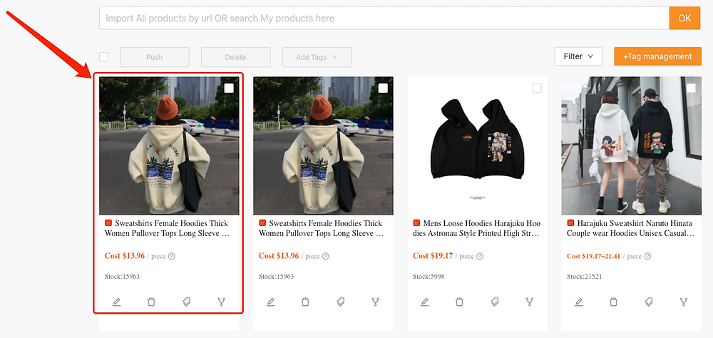 Split a product with Woo DSers - New Product Created- Woo DSers