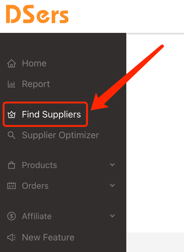 Find Suppliers with DSers - Access Find Suppliers - DSers