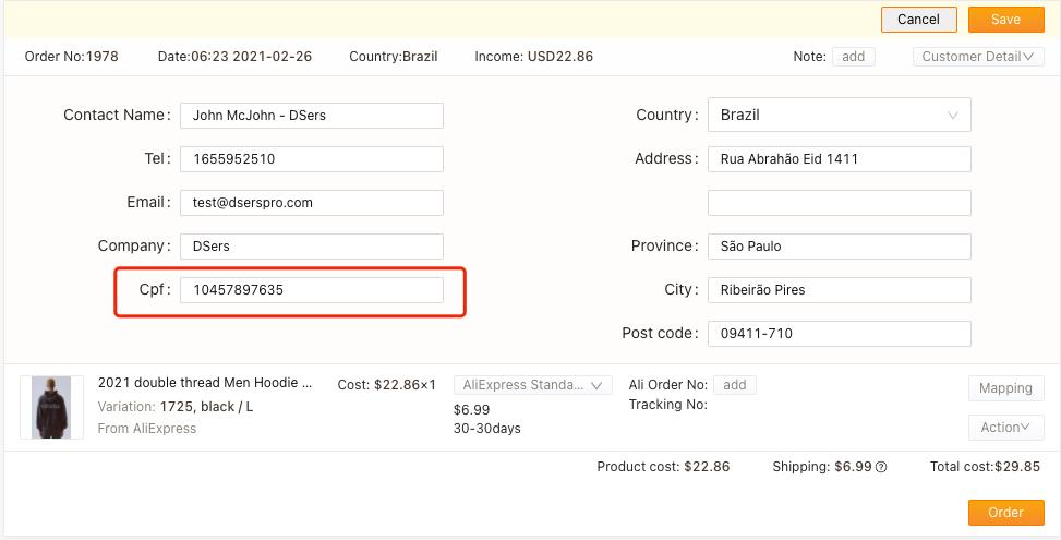 Especificações de pedidos para o Brasil com Woo DSers - 2 - Woo DSers