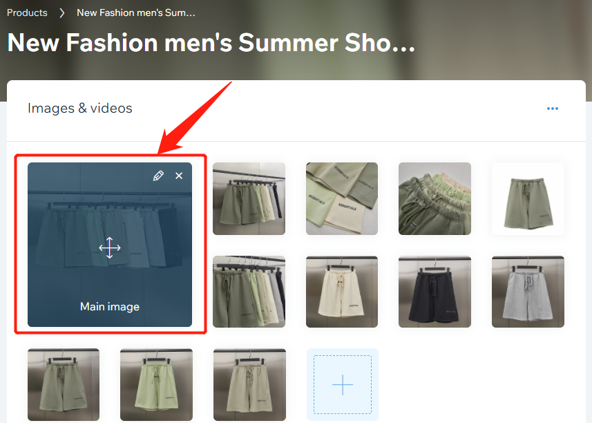 Edit a product in your store with Wix DSers - edit image - Wix DSers