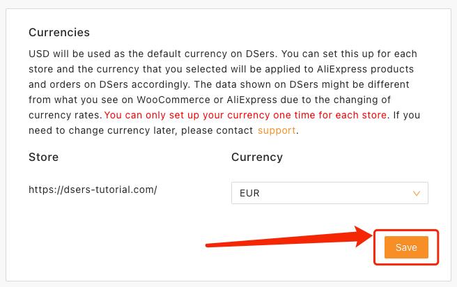 Alterar e configurar moeda com Woo DSers - 3 - Woo DSers
