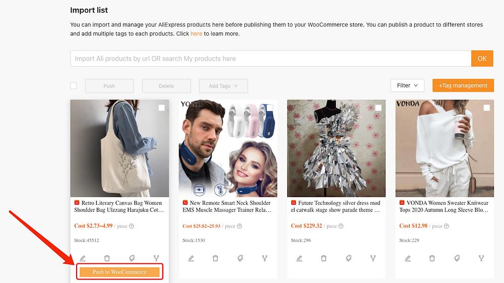 Enviar um produto a uma loja WooCommerce com Woo DSers - 2 - Woo DSers