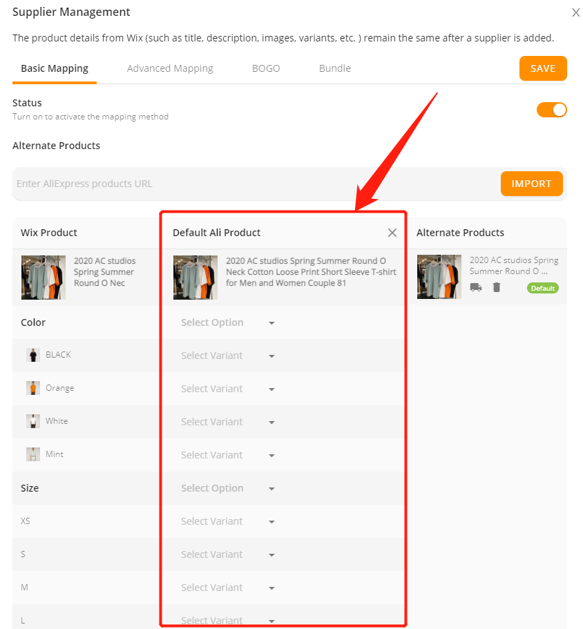 Connect AliExpress suppliers to your products with Wix DSers - Default Ali Product - Wix DSers
