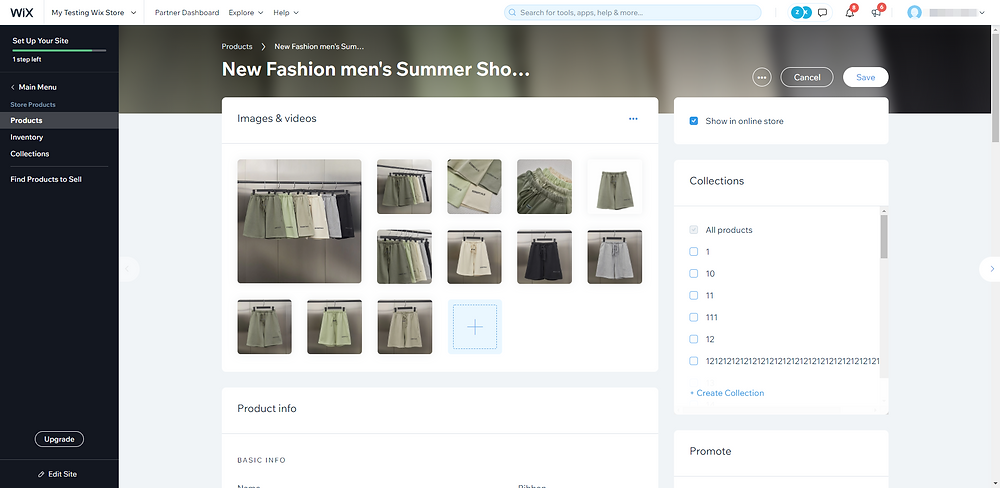 Edit a product in your store with Wix DSers - edit product page - Wix DSers