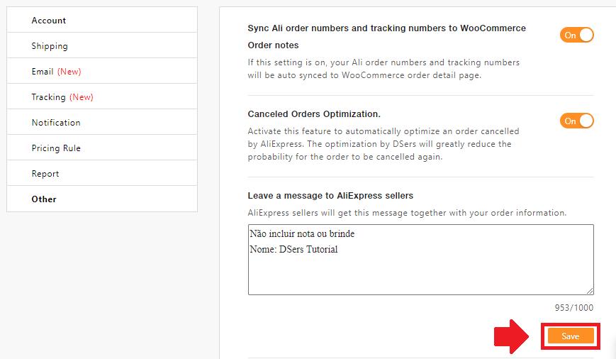 Mensagem padrão para os fornecedores com Woo DSers - 4 - Woo DSers
