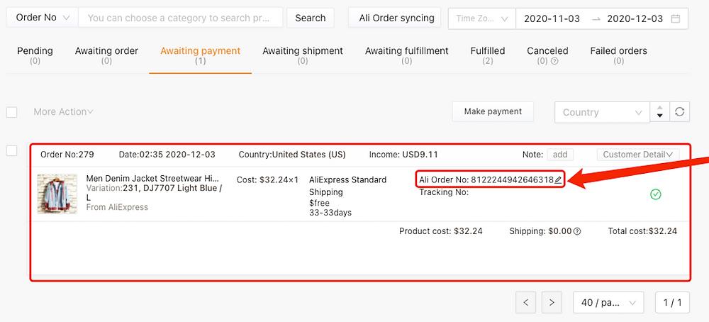 Pagar um pedido no AliExpress com Woo DSers - 2 - Woo DSers