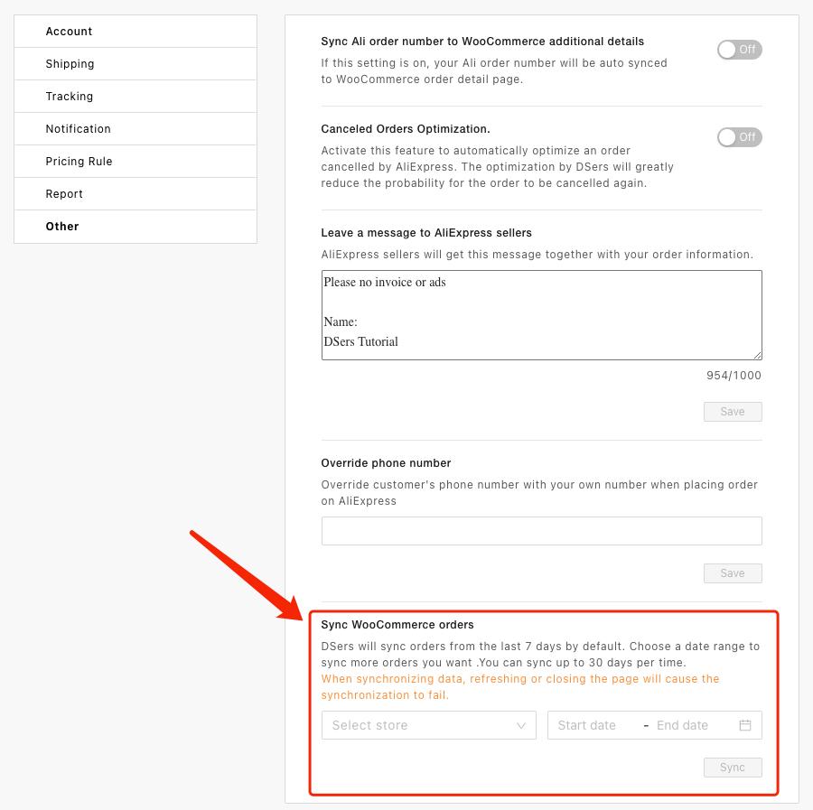 Sincronizar pedidos do WooCommerce com o Woo DSers - 3 - Woo DSers