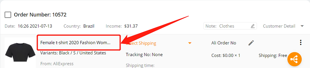 Why can't I select a shipping method with Wix DSers - click product name - Wix DSers