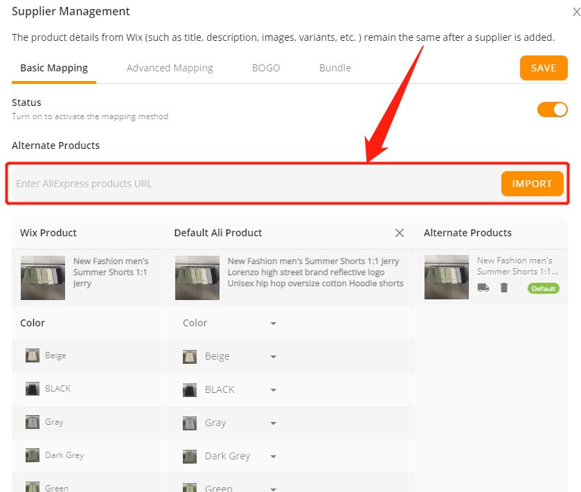 Connect multiple suppliers to one product with Wix DSers - import new supplier - Wix DSers