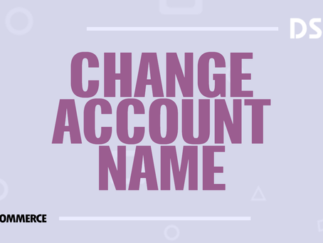 Change account name