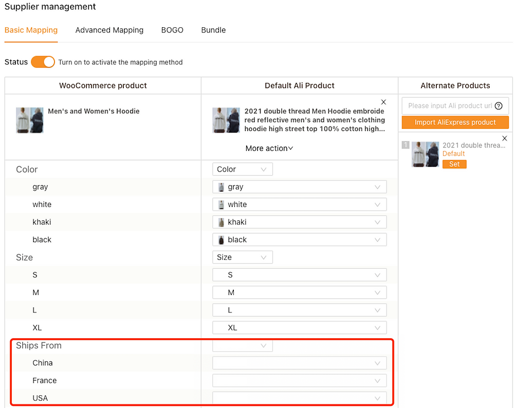 Edit a product on WooCommerce with Woo DSers - Map products on DSers - Woo DSers