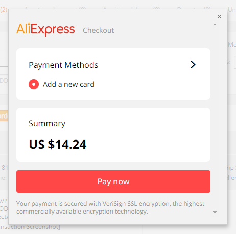 Pay an order on AliExpress with Wix DSers - pay now - Wix DSers