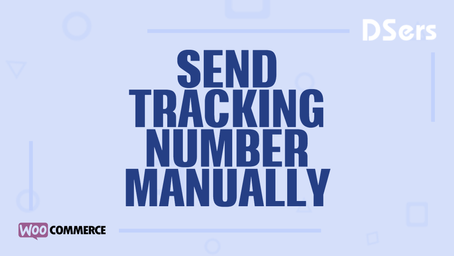 Send tracking number manually