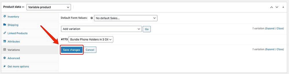 Create Bundles of products with Woo DSers - Save changes - Woo DSers