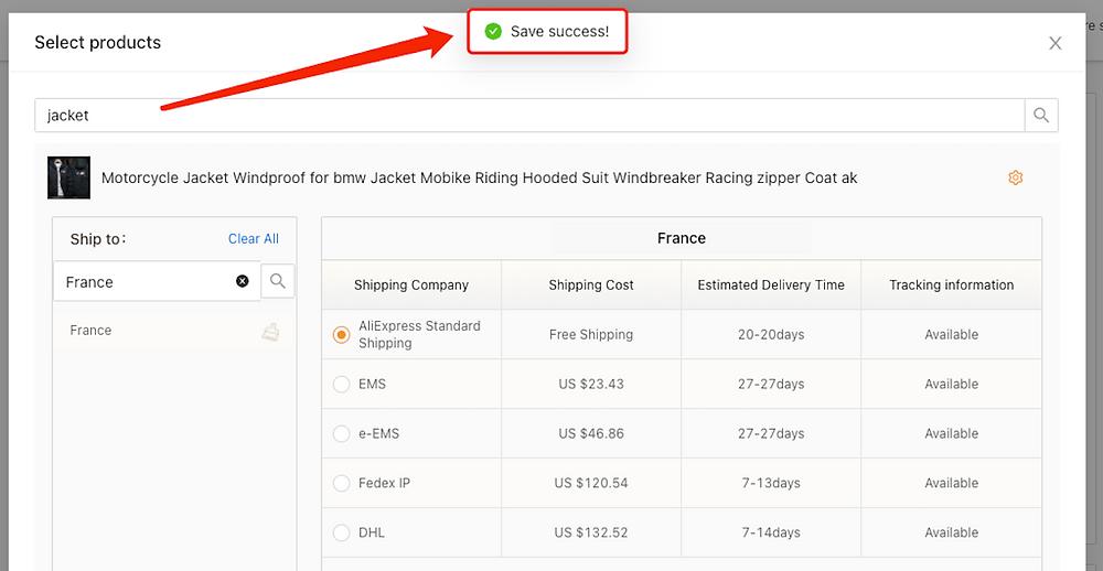 Méthode de livraison pour produit spécifique avec Woo DSers - 8 - Woo DSers