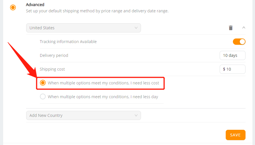 Set shipping method for all products with Wix DSers - select less cost - Wix DSers